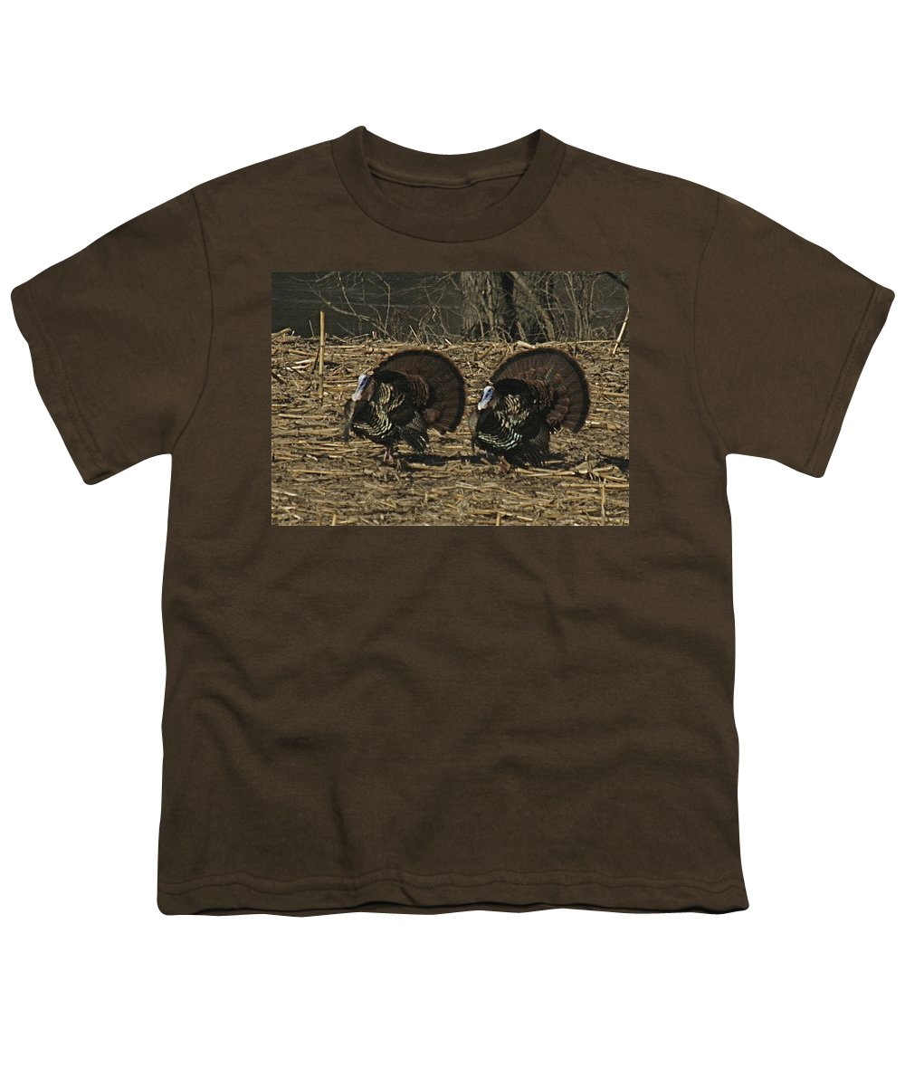 Turkey Youth T-Shirt featuring the photograph Turkeystrutin by Robert Pearson