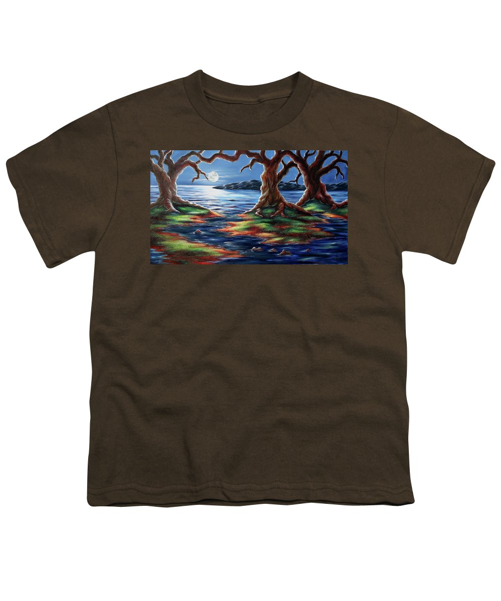 Textured Painting Youth T-Shirt featuring the painting United Trees by Jennifer McDuffie