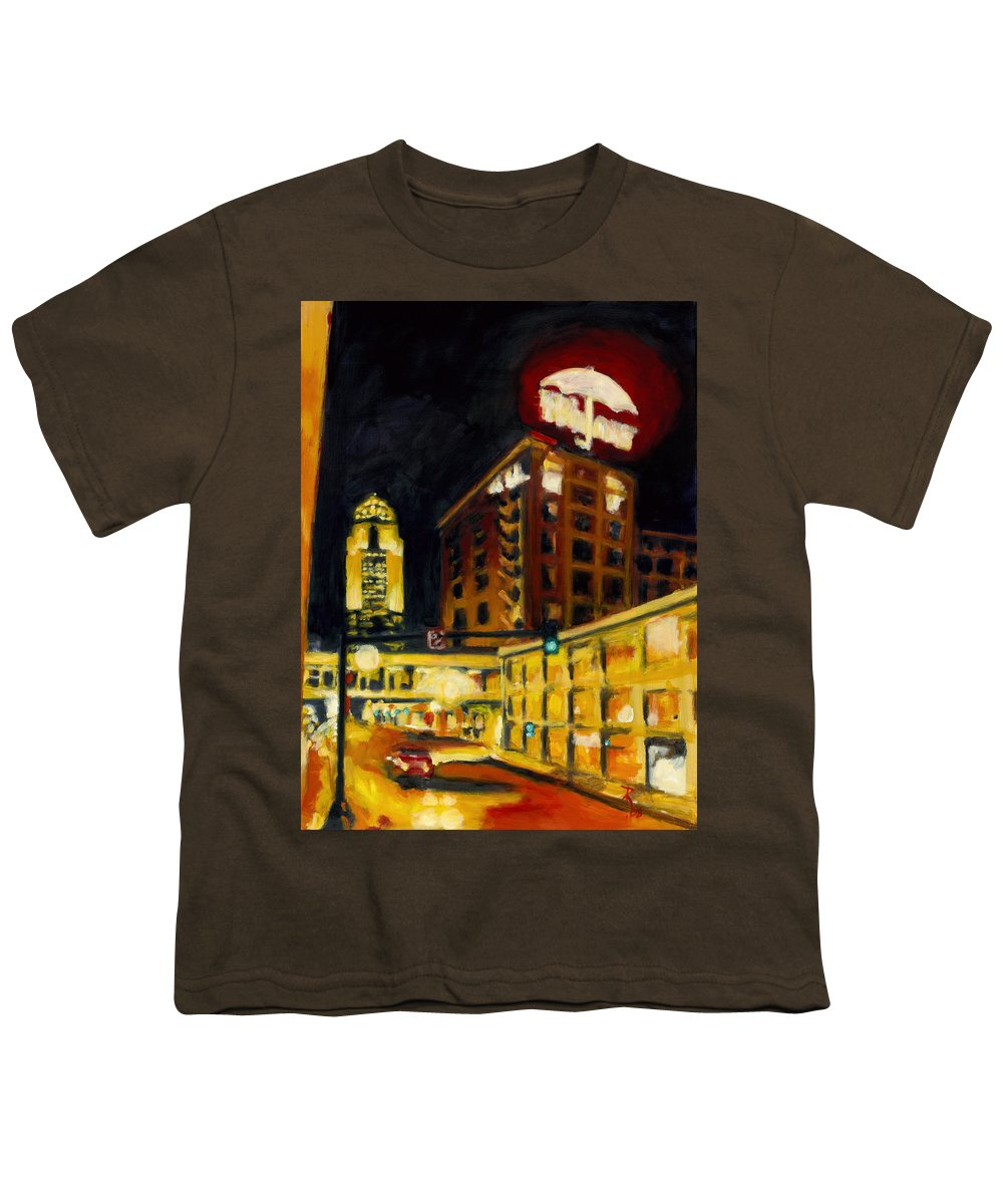 Rob Reeves Youth T-Shirt featuring the painting Untitled In Red And Gold by Robert Reeves