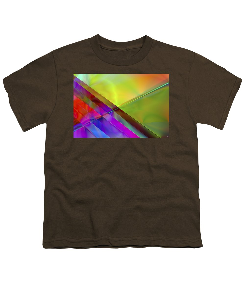 Colors Youth T-Shirt featuring the digital art Vision 3 by Jacques Raffin