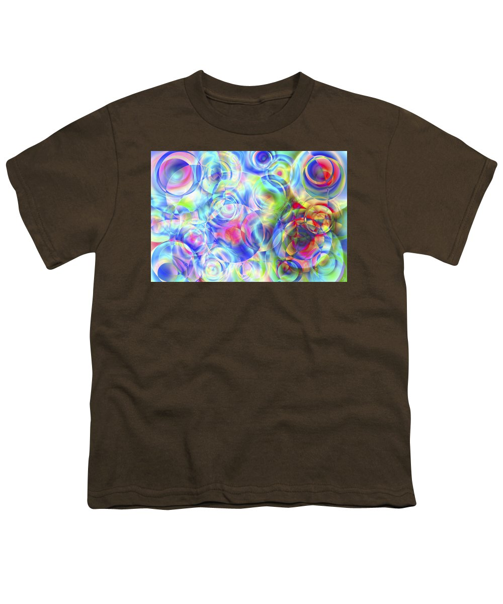Colors Youth T-Shirt featuring the digital art Vision 4 by Jacques Raffin