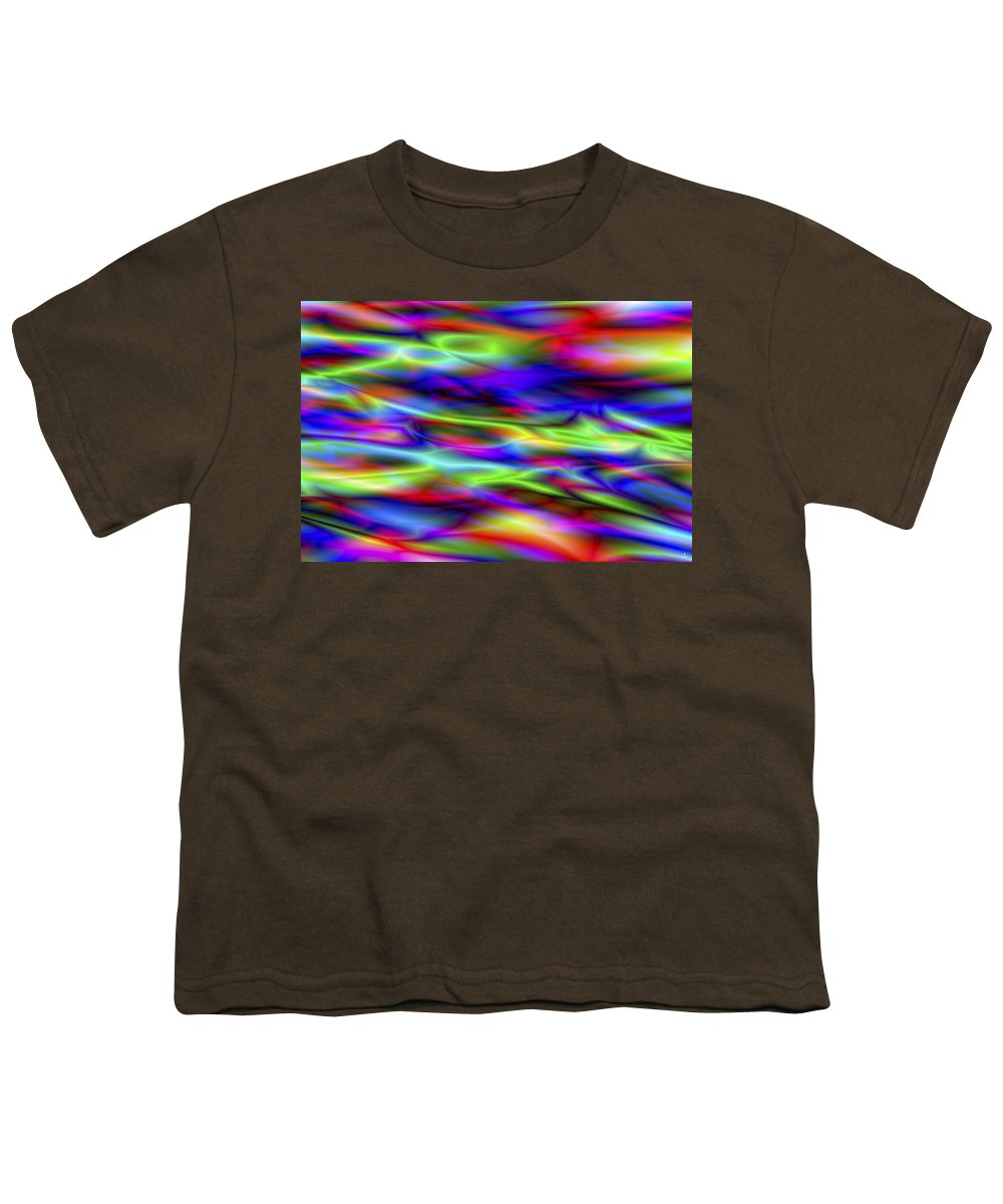 Colors Youth T-Shirt featuring the digital art Vision 5 by Jacques Raffin