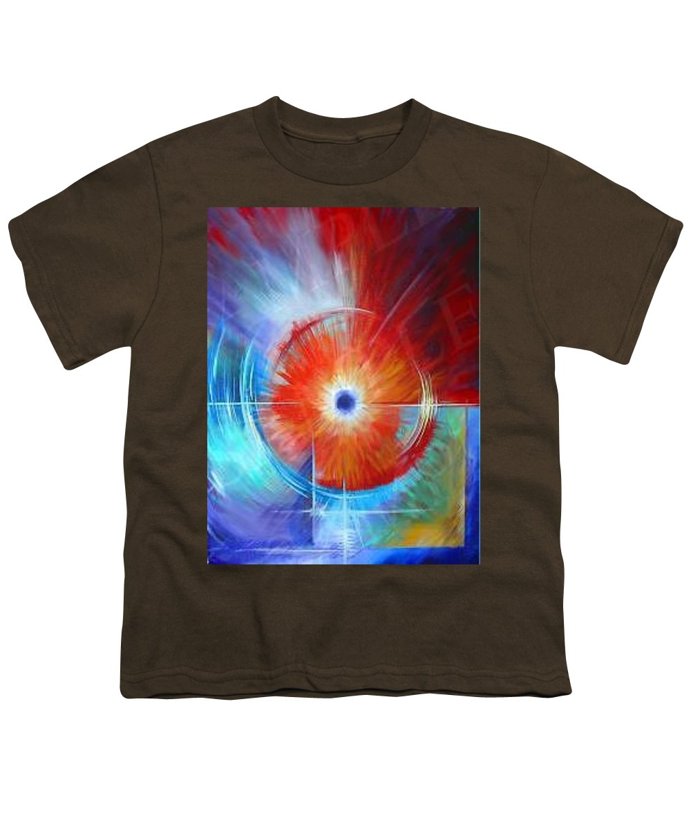 Clouds Youth T-Shirt featuring the painting Vortex by James Christopher Hill