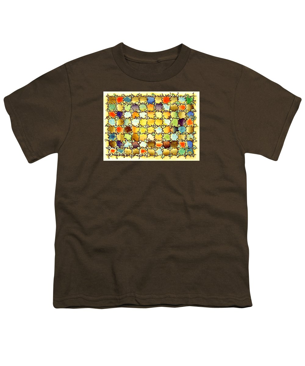 Abstract Youth T-Shirt featuring the painting Warm Light by Dave Martsolf