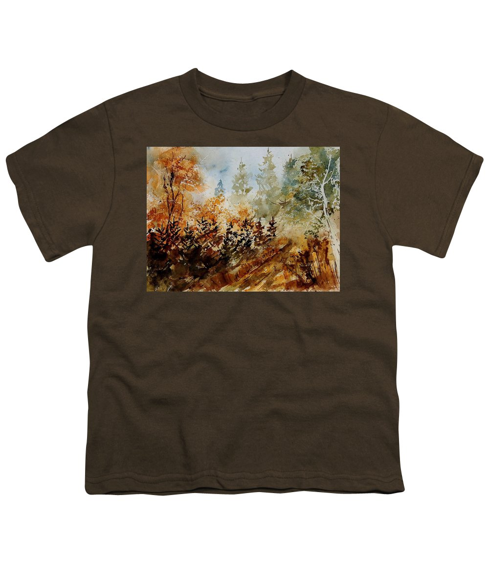 Tree Youth T-Shirt featuring the painting Watercolor 250607 by Pol Ledent