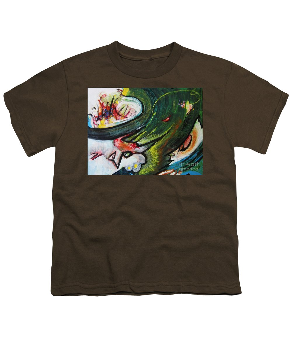 Abstract Paintings Paintings Abstract Art Paintings Youth T-Shirt featuring the painting Waves by Seon-Jeong Kim