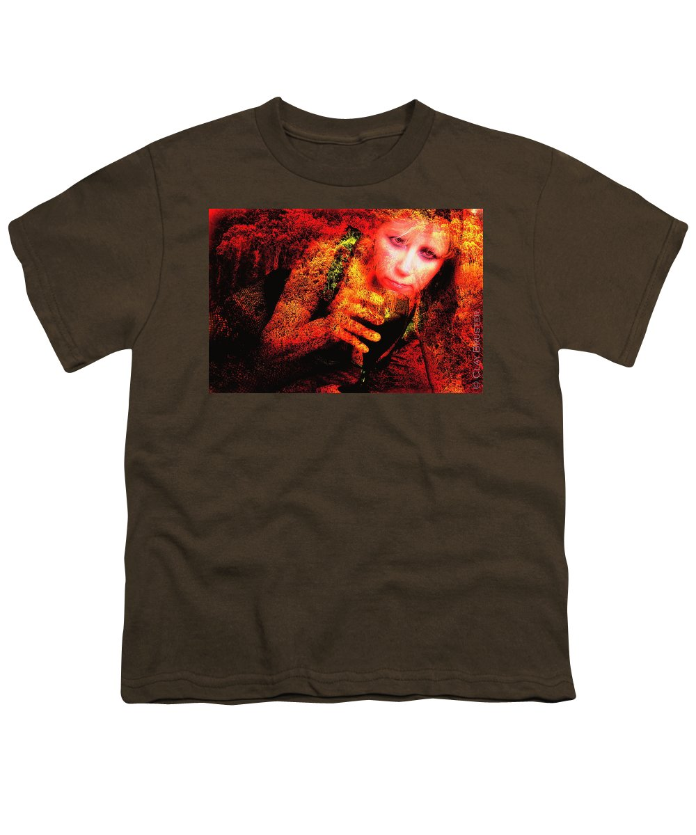 Clay Youth T-Shirt featuring the photograph Wine Woman And Fall Colors by Clayton Bruster