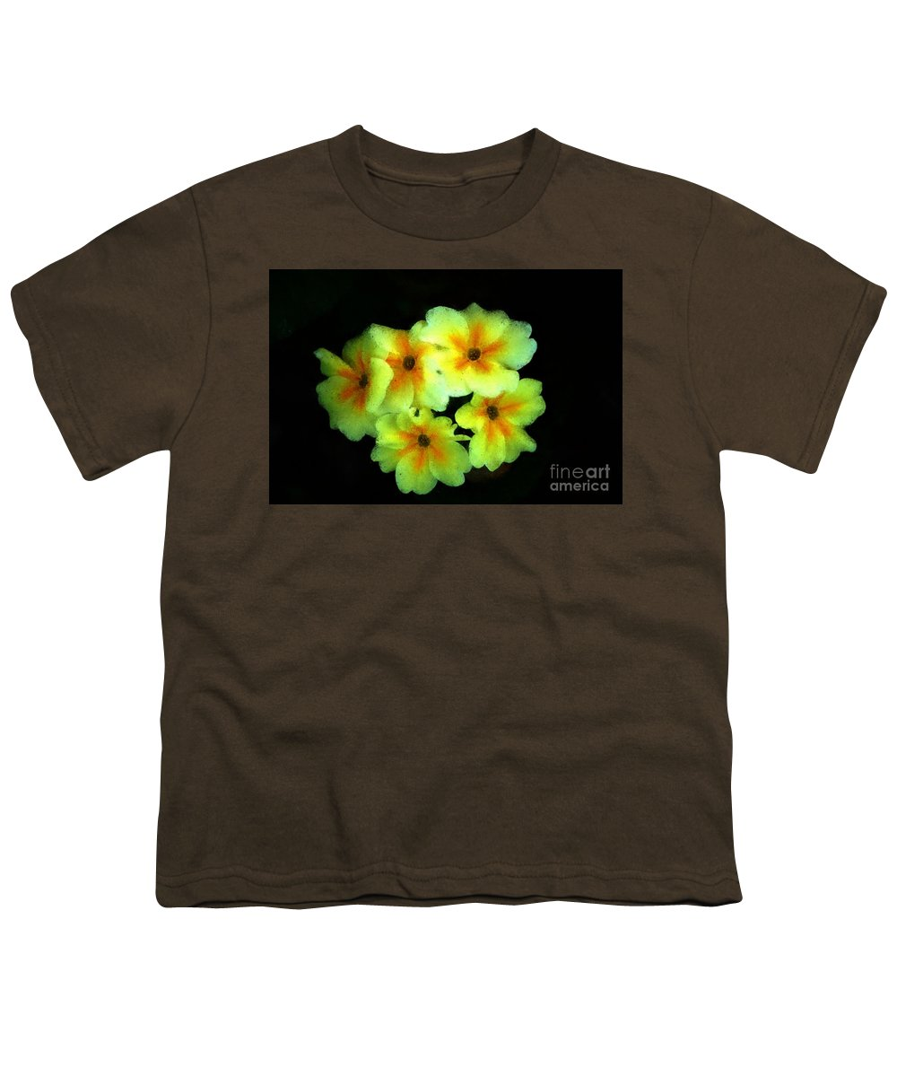 Digital Photo Youth T-Shirt featuring the photograph Yellow Primrose 5-25-09 by David Lane