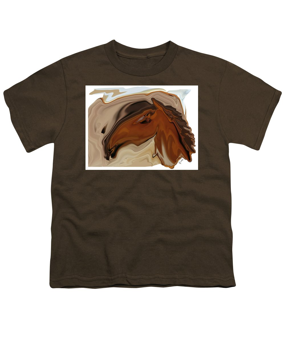 Youngster Youth T-Shirt featuring the digital art Youngster by Rabi Khan