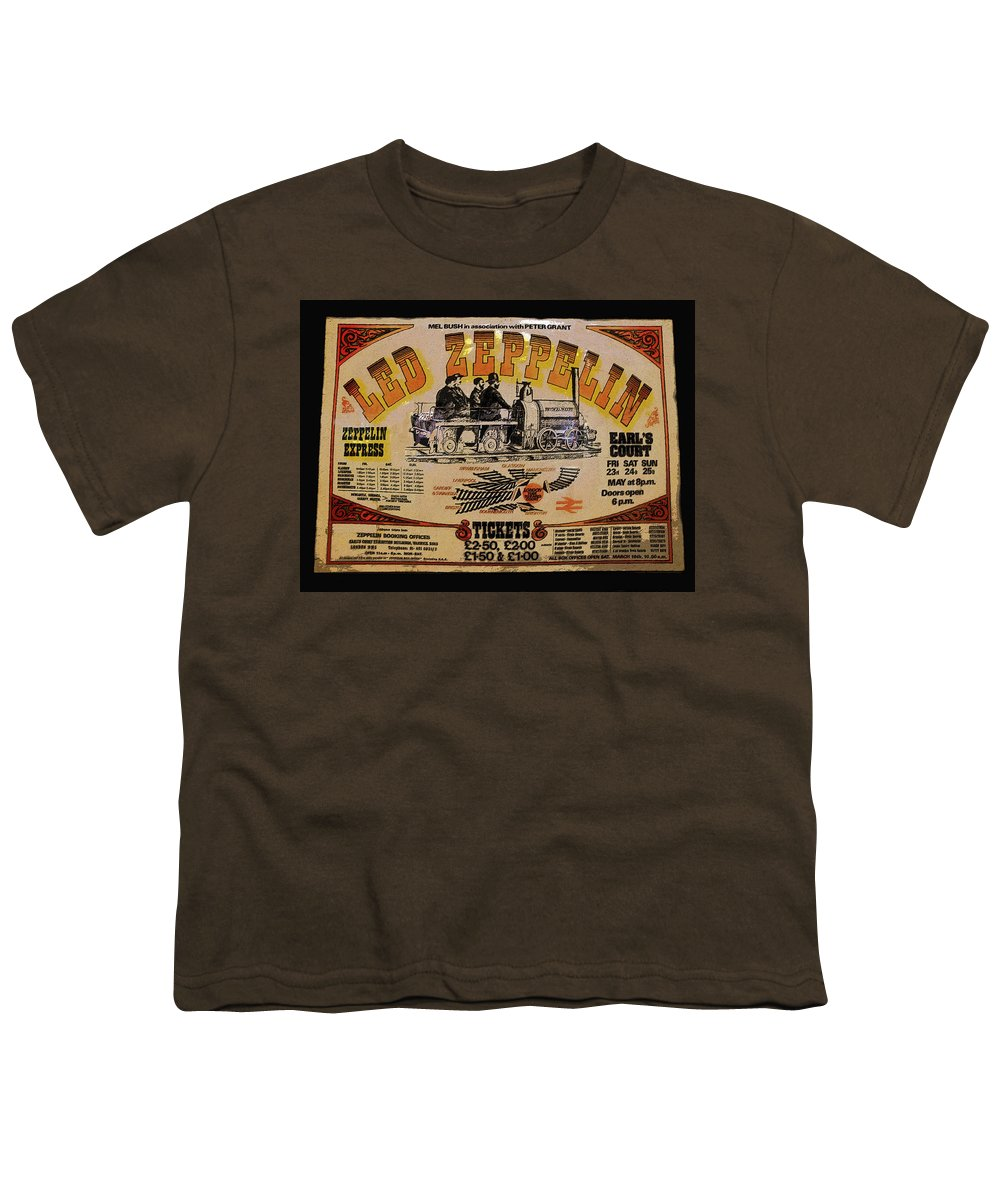 Art Youth T-Shirt featuring the painting Zeppelin Express by David Lee Thompson