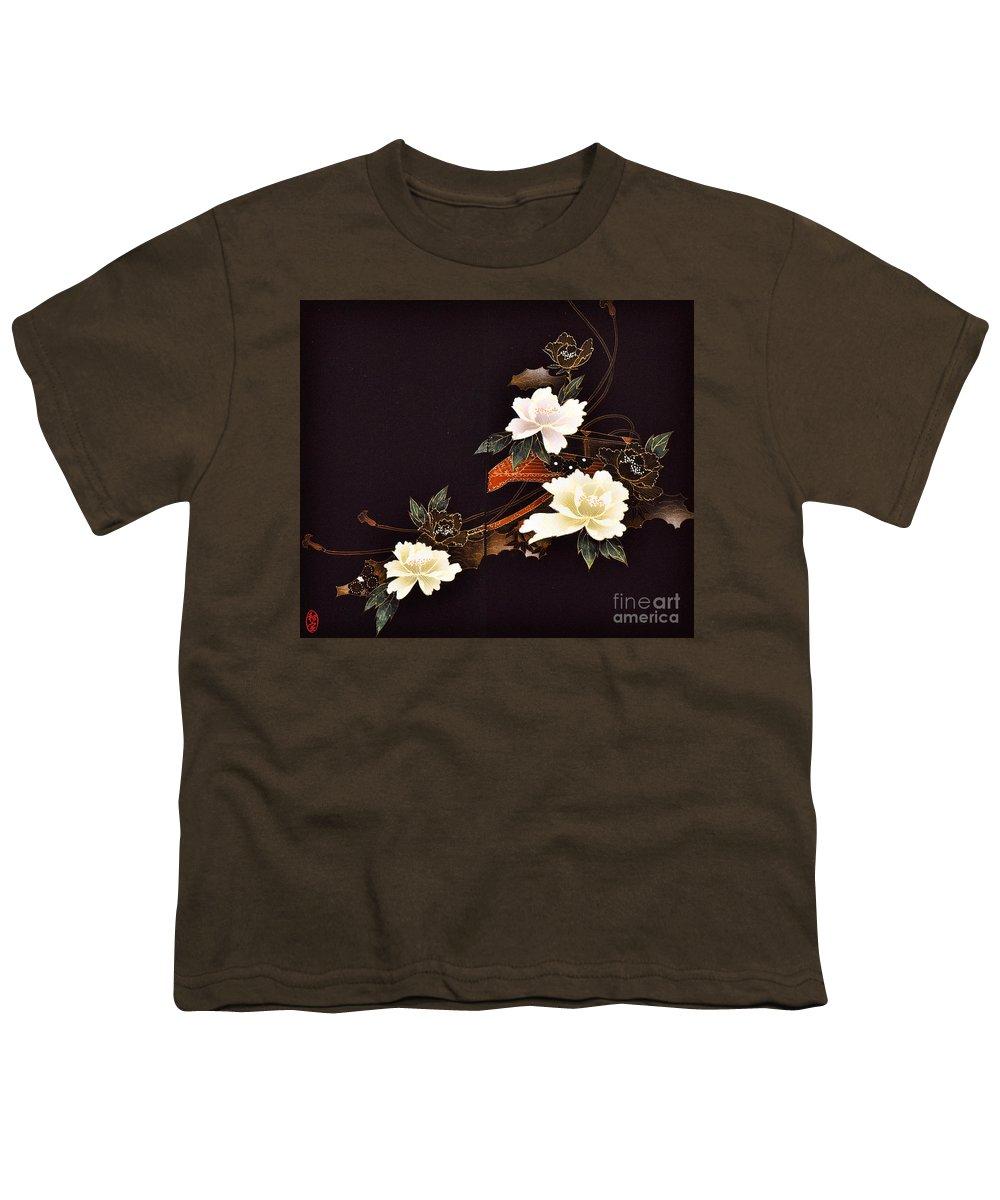 Youth T-Shirt featuring the digital art Spirit of Japan H14 by Miho Kanamori