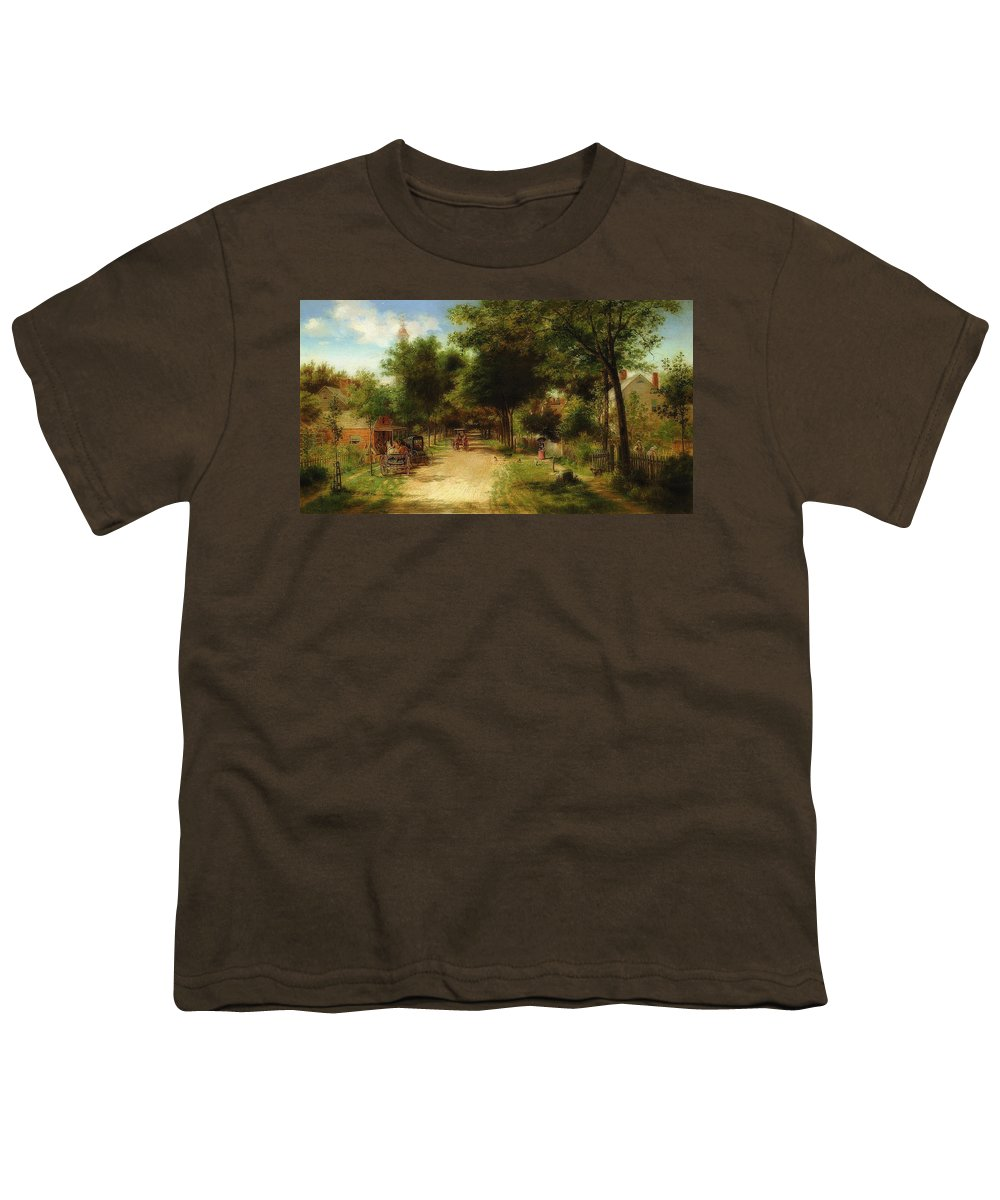 Painting Youth T-Shirt featuring the painting The Country Store by Edward Lamson Henry