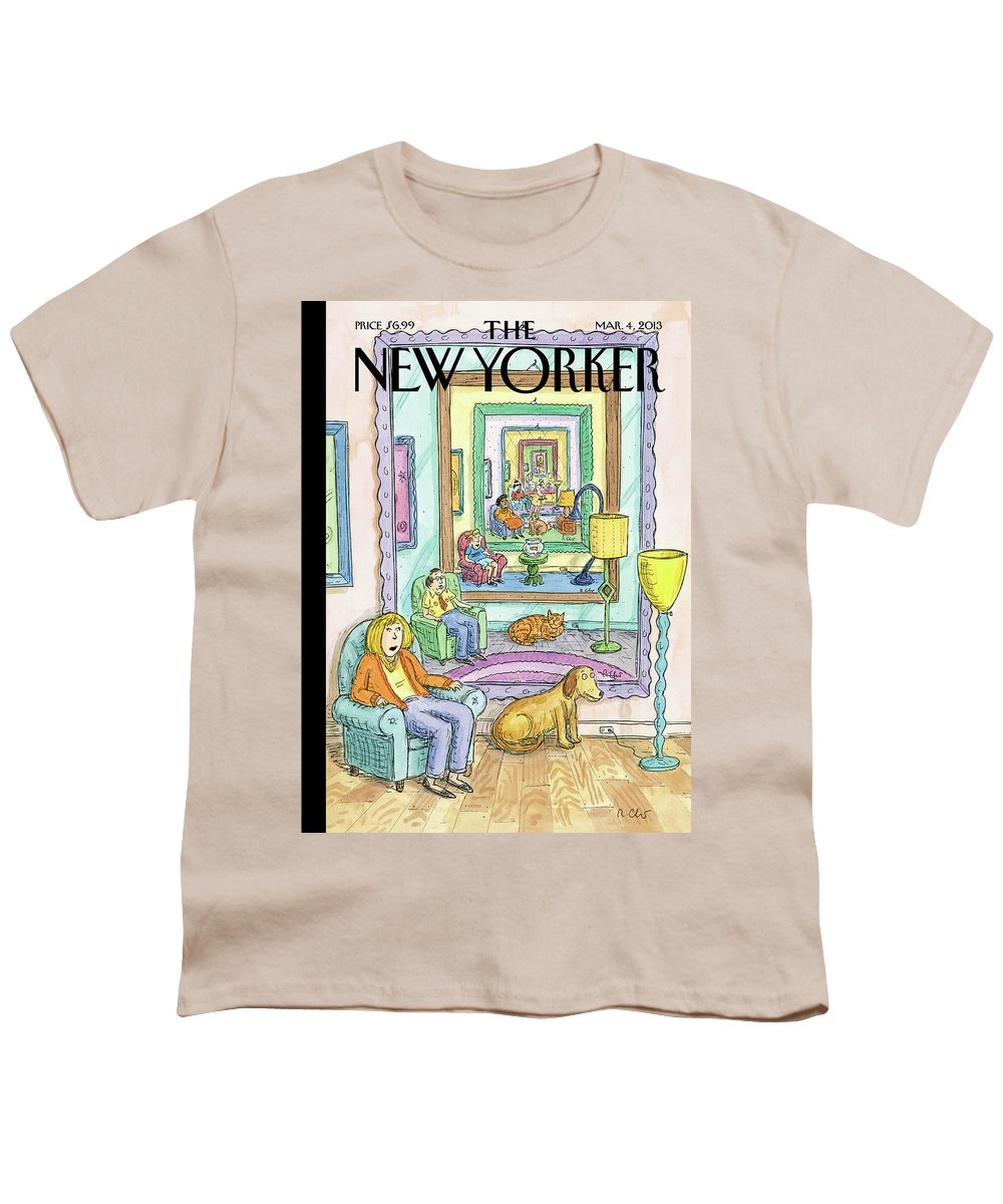 Dog Youth T-Shirt featuring the painting Ad Infinitum by Roz Chast