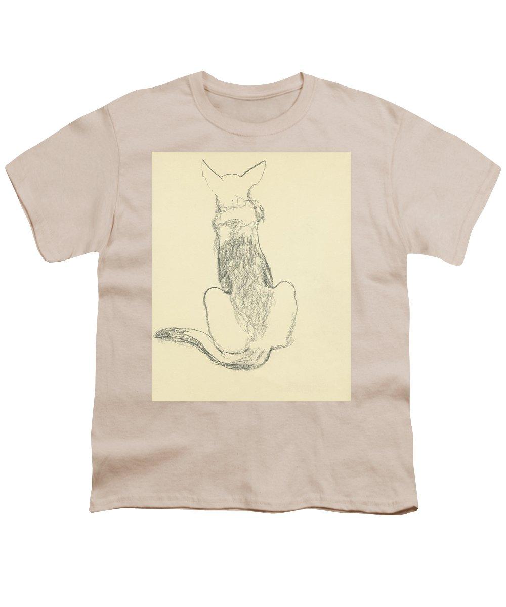 Animal Youth T-Shirt featuring the digital art A German Shepherd by Carl Oscar August Erickson
