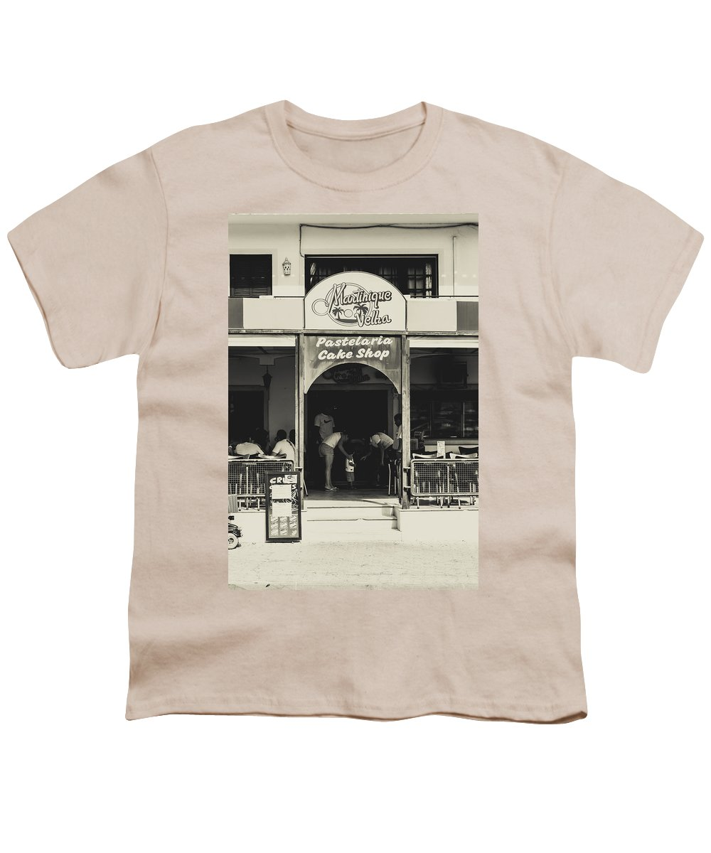 Street Youth T-Shirt featuring the photograph Albufeira Street Series - Martinique Velha by Marco Oliveira