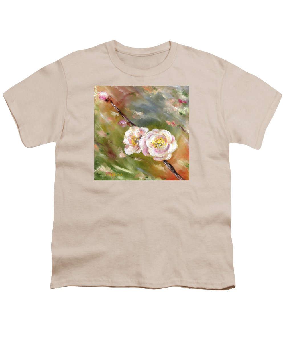 Flower Youth T-Shirt featuring the painting Anniversary by Hiroko Sakai