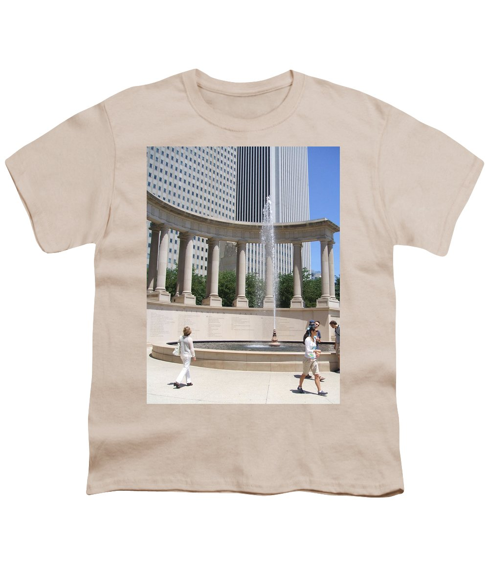 Chicago Youth T-Shirt featuring the photograph Chicago Tourism by Minding My Visions by Adri and Ray