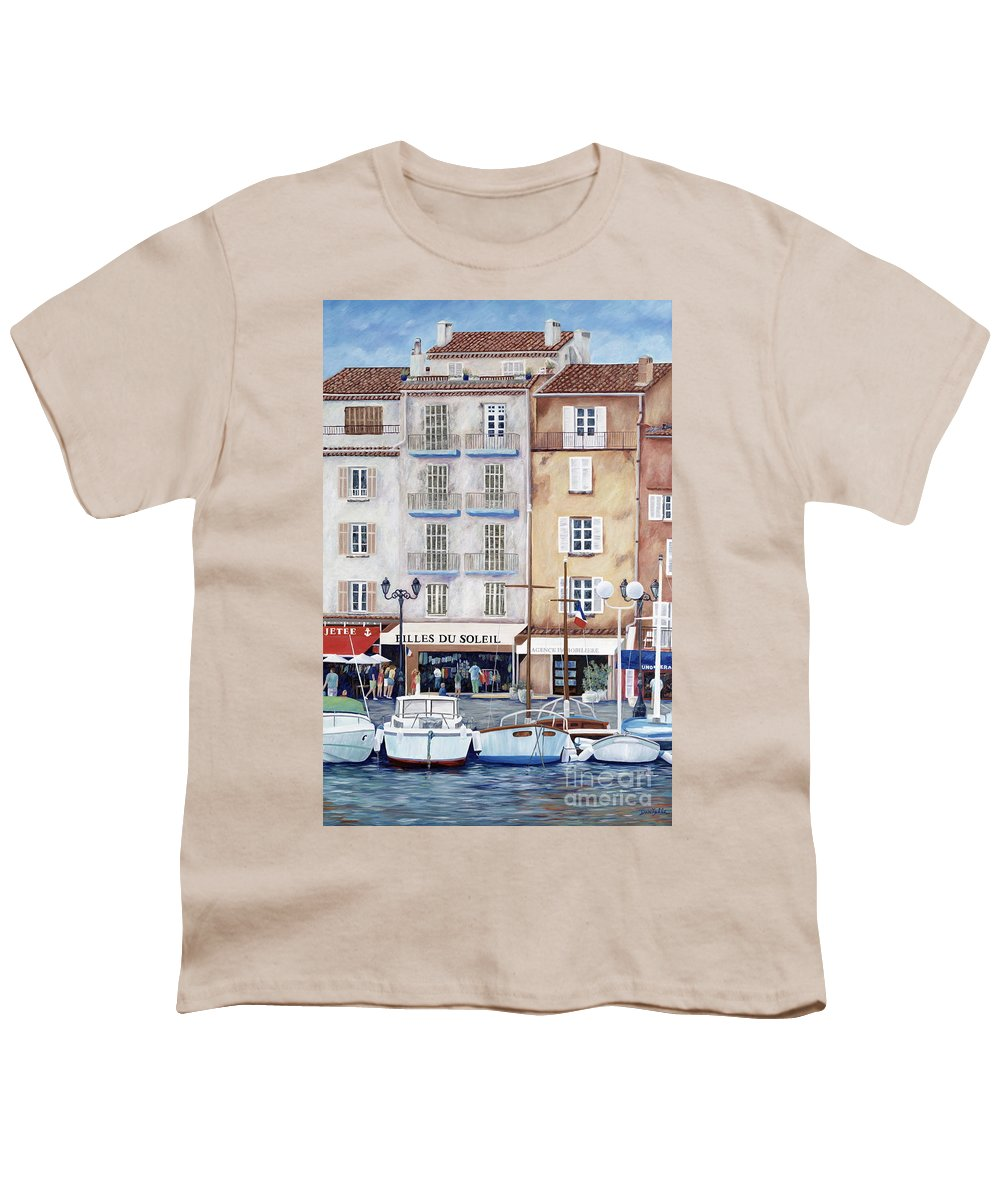 St. Tropez Youth T-Shirt featuring the painting Filles Du Soleil by Danielle Perry