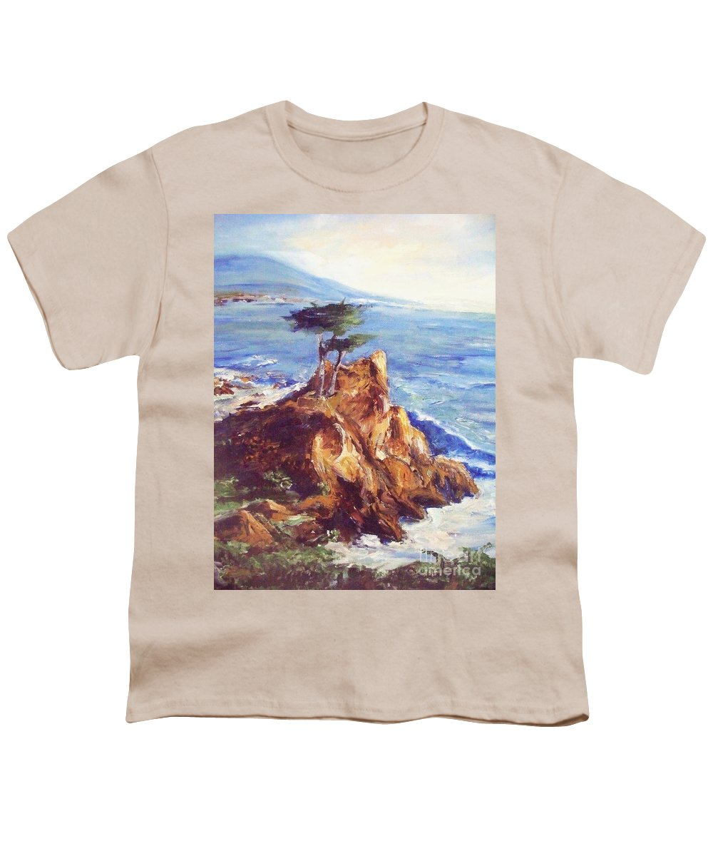 Seascape Youth T-Shirt featuring the painting Imaginary Cypress by Eric Schiabor