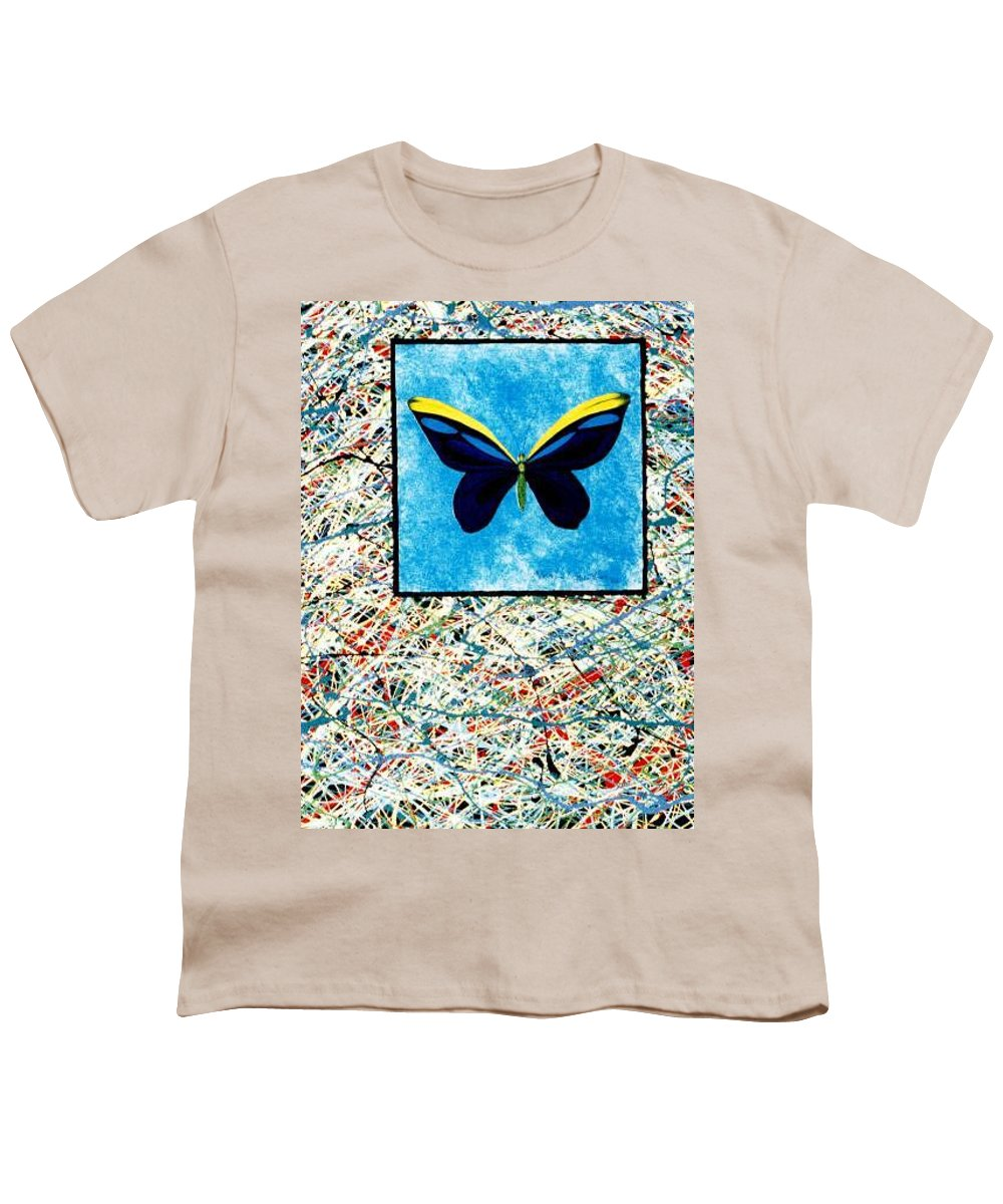 Abstract Youth T-Shirt featuring the painting Imperfect II by Micah Guenther