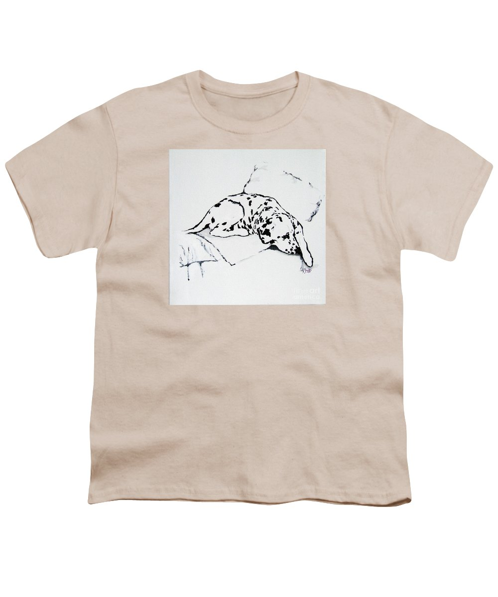 Dogs Youth T-Shirt featuring the painting Lazy Day by Jacki McGovern