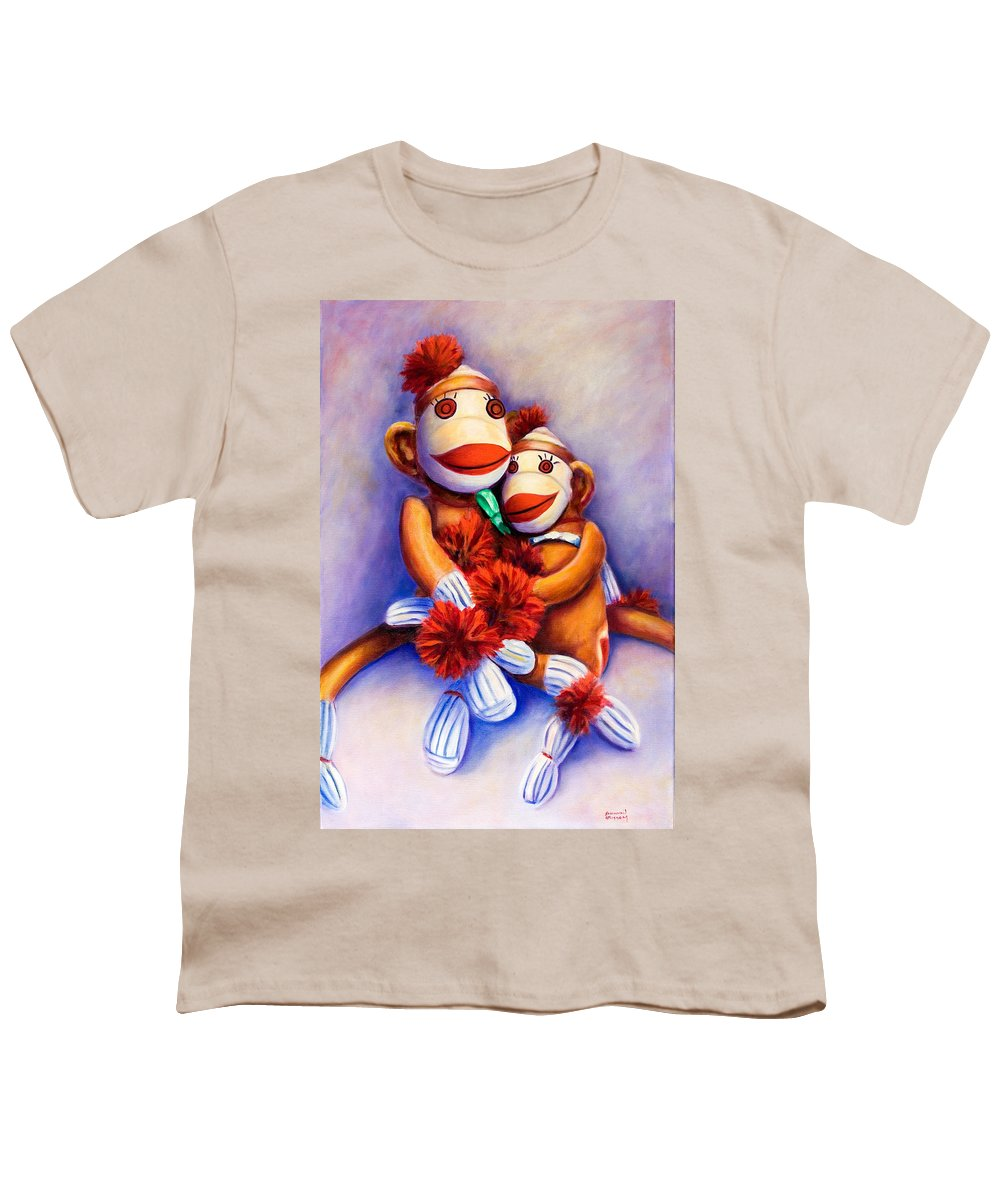 Children Youth T-Shirt featuring the painting Mother And Child by Shannon Grissom