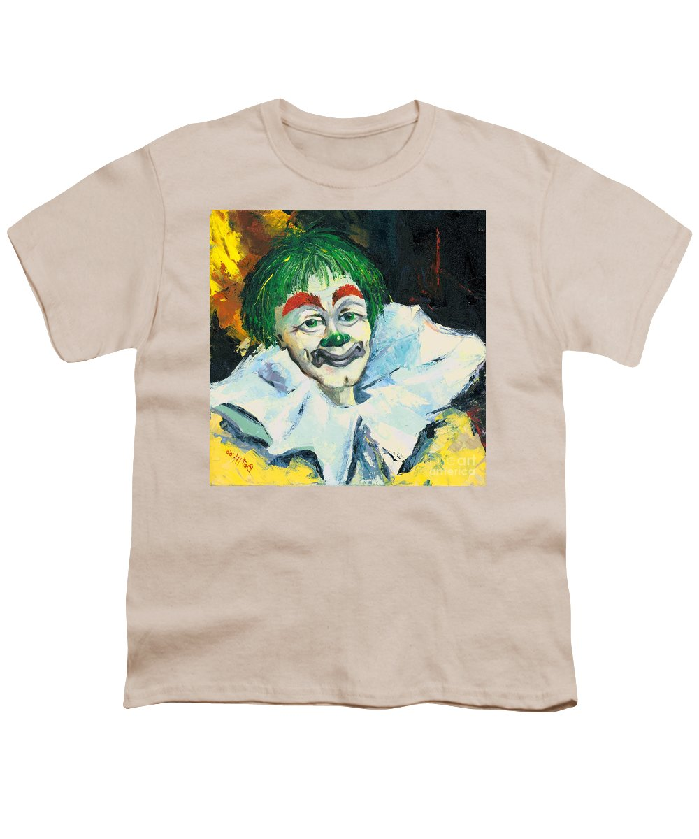 Canvas Prints Youth T-Shirt featuring the painting My Friend by Elisabeta Hermann
