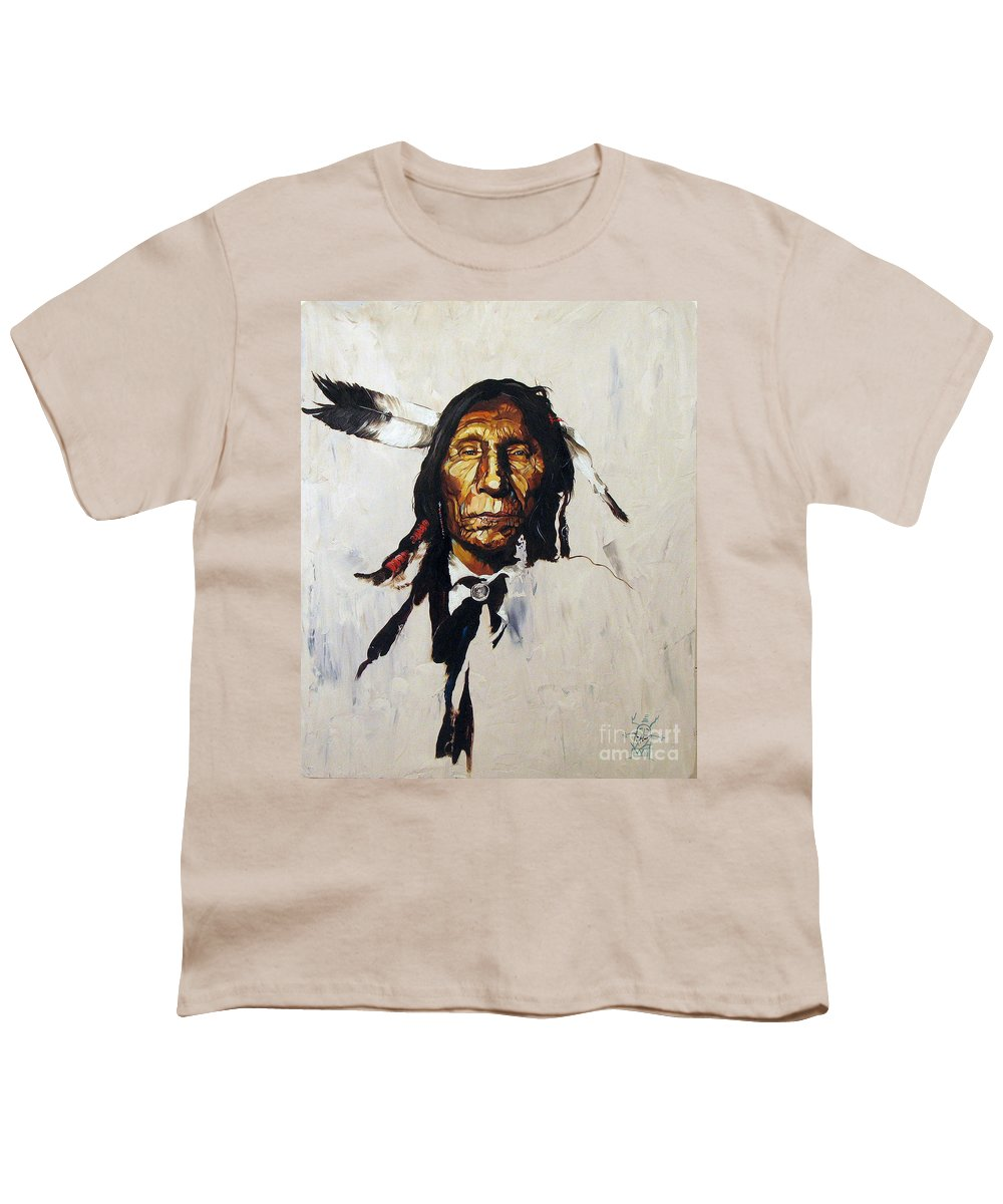 Southwest Art Youth T-Shirt featuring the painting Remember by J W Baker
