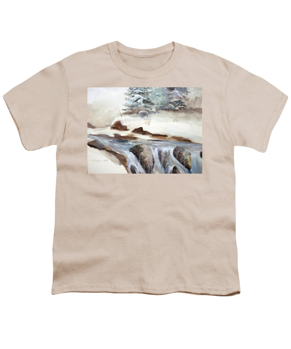 Rick Huotari Youth T-Shirt featuring the painting Springtime by Rick Huotari