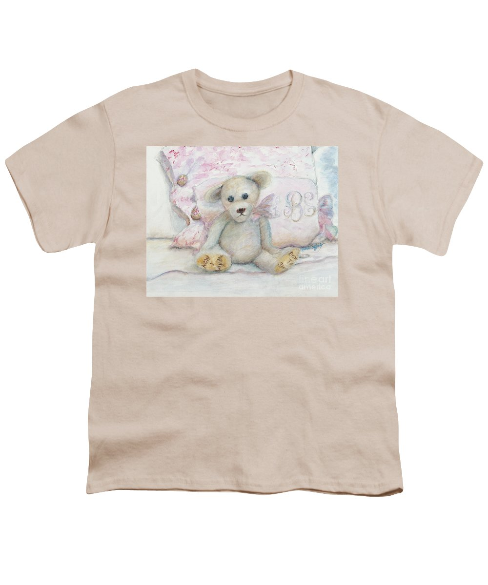 Teddy Bear Youth T-Shirt featuring the painting Teddy Friend by Nadine Rippelmeyer