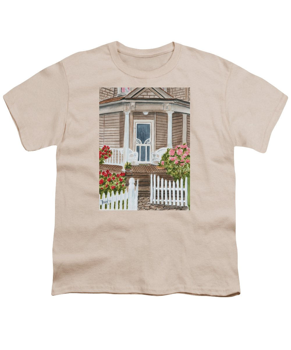 Architecture Youth T-Shirt featuring the painting Welcome by Regan J Smith