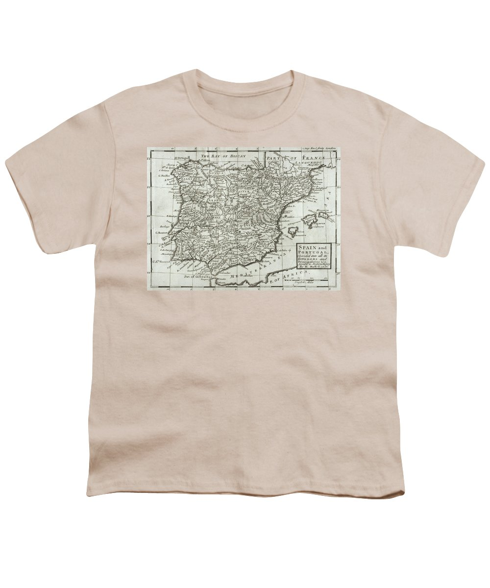 Map Of Spain For Sale.Antique Map Of Spain And Portugal Youth T Shirt