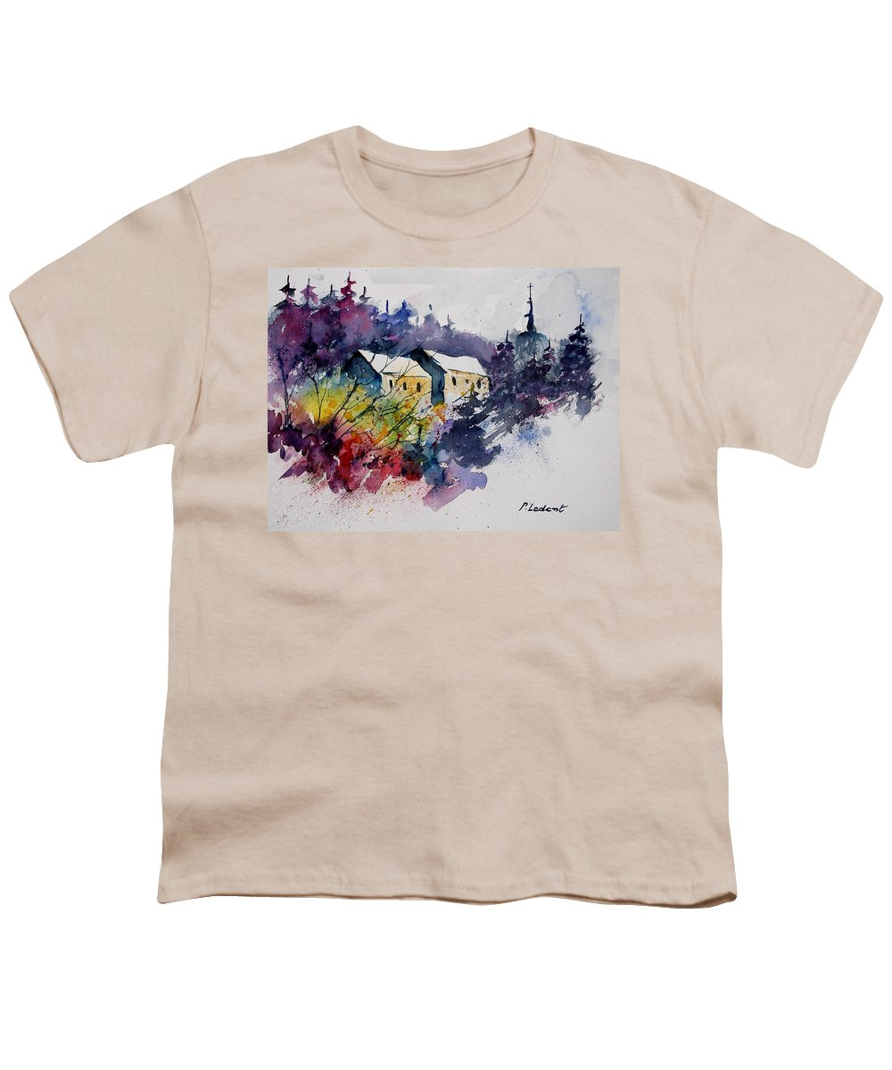 Winter Youth T-Shirt featuring the painting Watercolor 231207 by Pol Ledent
