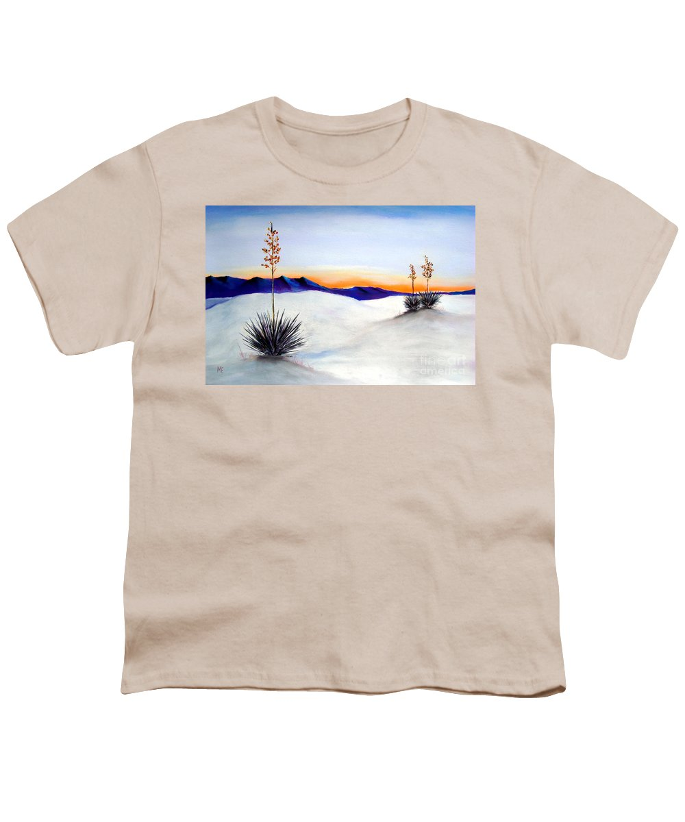 White Sands Youth T-Shirt featuring the painting White Sands by Melinda Etzold