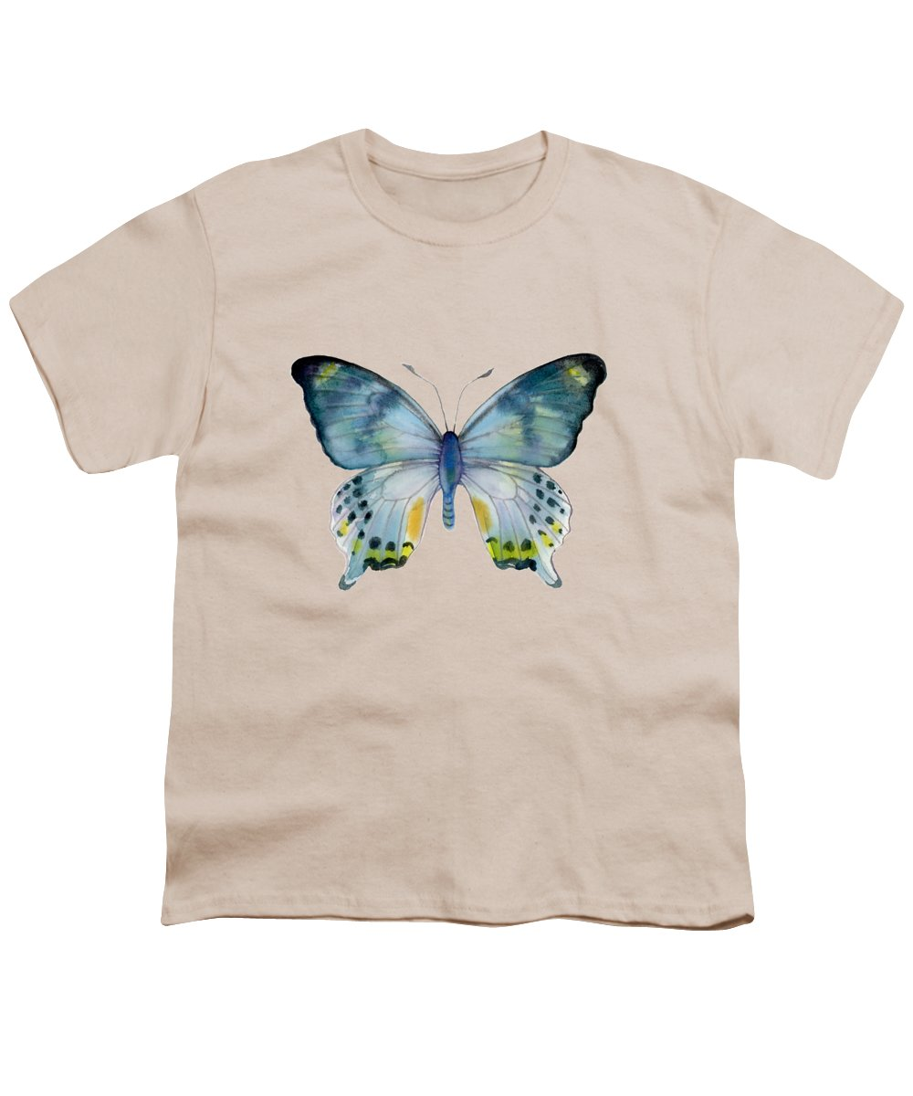 Laglaizei Butterfly Youth T-Shirt featuring the painting 68 Laglaizei Butterfly by Amy Kirkpatrick