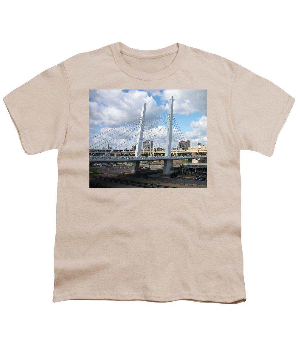 Bridge Youth T-Shirt featuring the photograph 6th Street Bridge by Anita Burgermeister