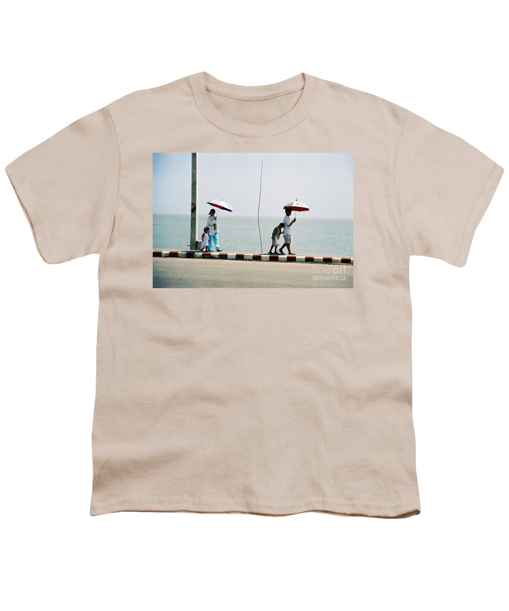 Landscape Youth T-Shirt featuring the photograph A Day By The Sea by Mary Rogers