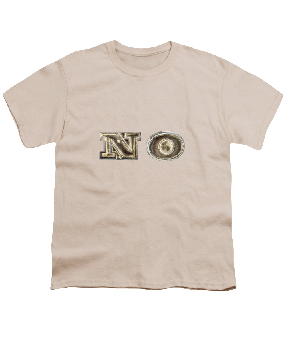 Automotive Youth T-Shirt featuring the photograph A Simple No by YoPedro