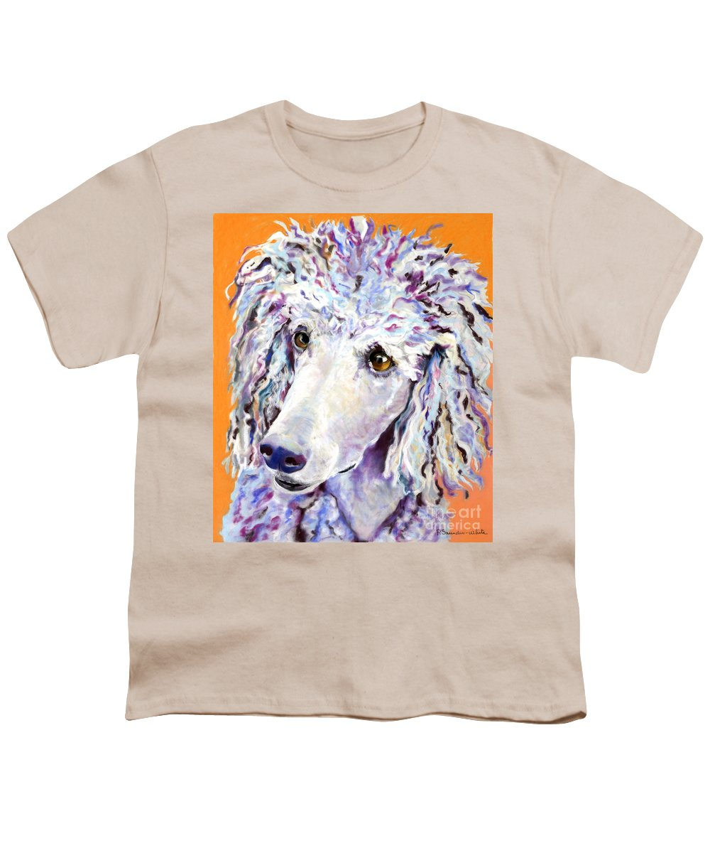 Standard Poodle Youth T-Shirt featuring the pastel Above The Standard  by Pat Saunders-White