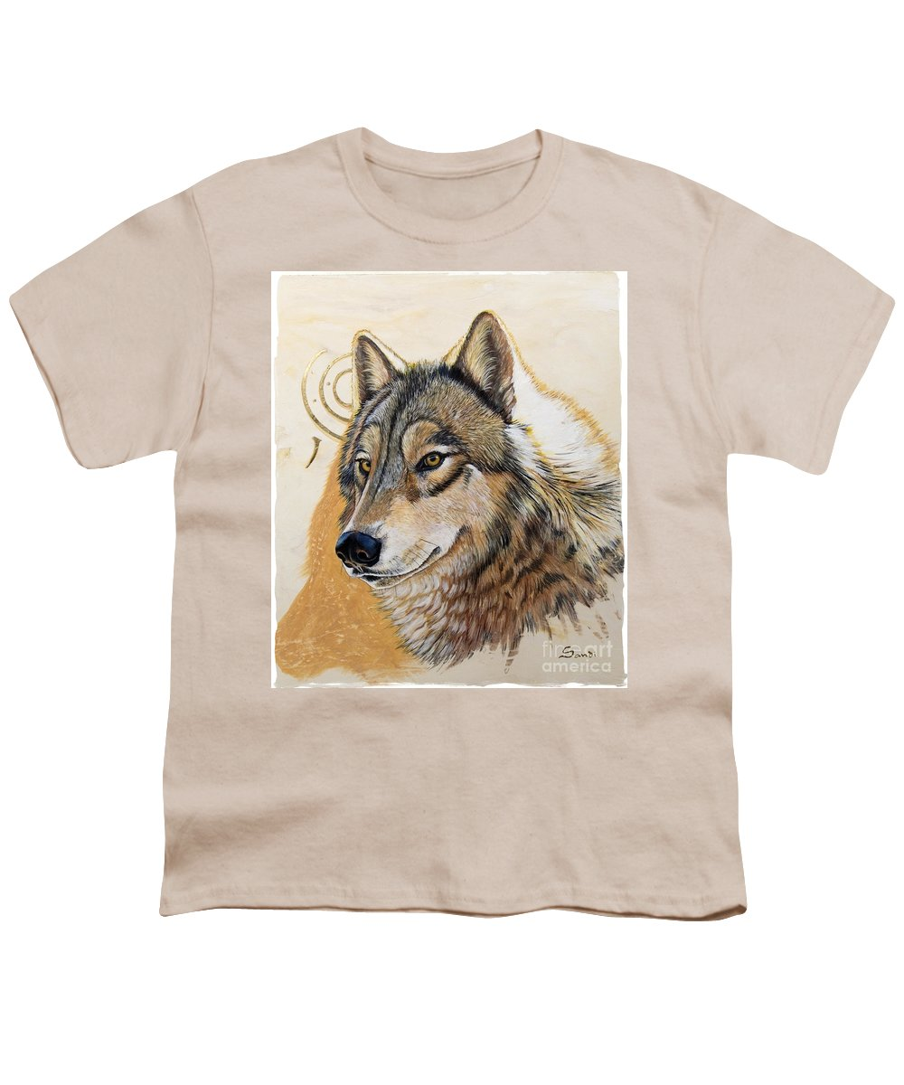 Acrylics Youth T-Shirt featuring the painting Adobe Gold by Sandi Baker