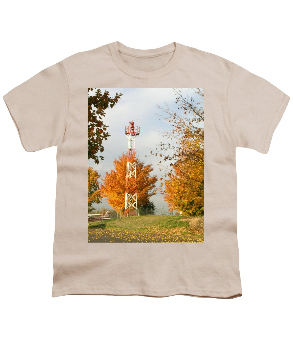 Airport Youth T-Shirt featuring the photograph Airport Tower by Douglas Barnett