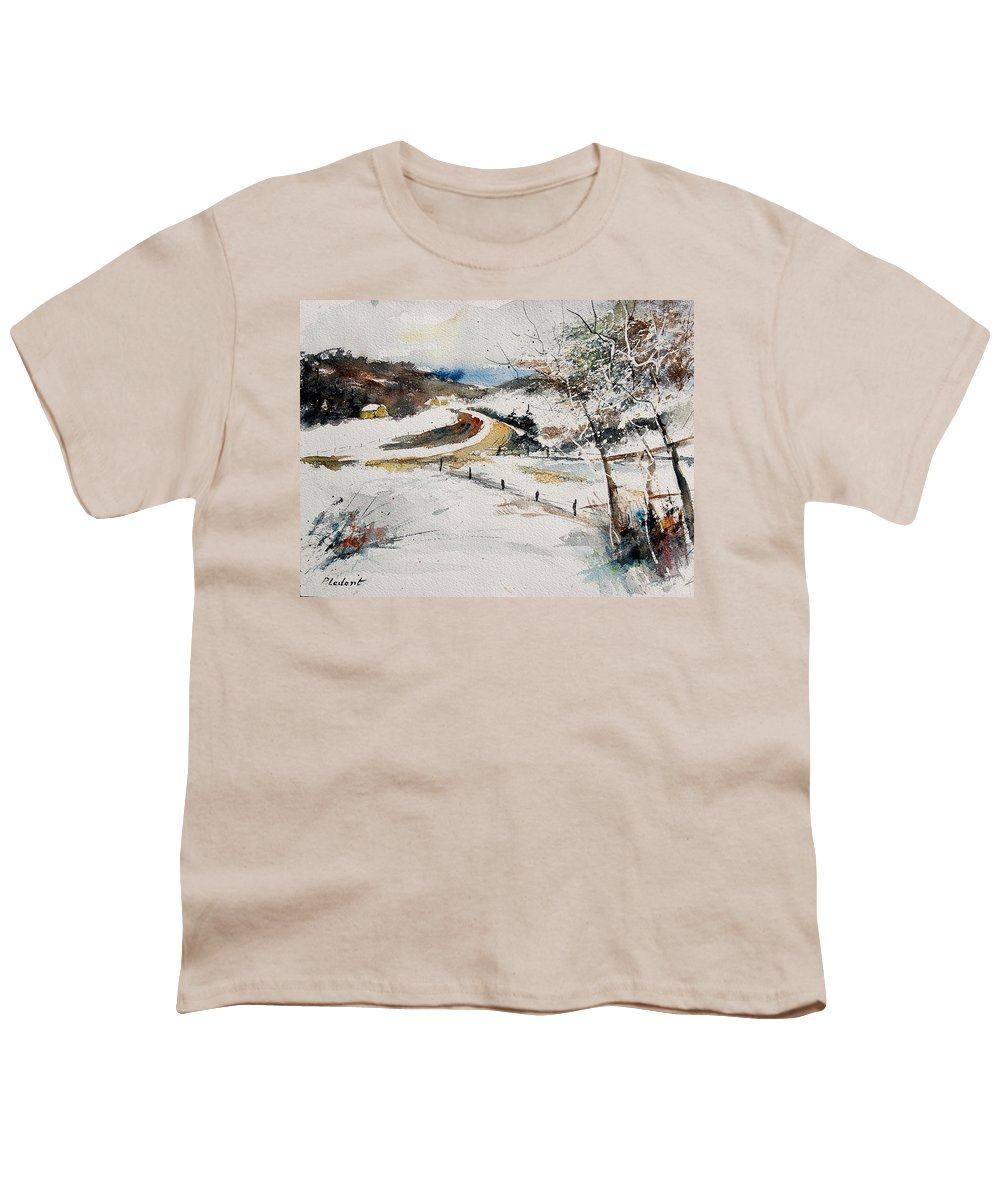 Landscape Youth T-Shirt featuring the painting Aqua 220908 by Pol Ledent