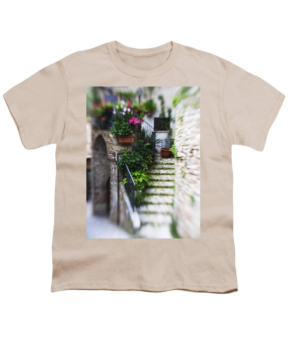 Italy Youth T-Shirt featuring the photograph Archway And Stairs by Marilyn Hunt