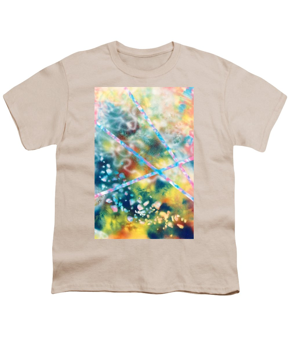 Abstract Youth T-Shirt featuring the painting Autumn by Micah Guenther