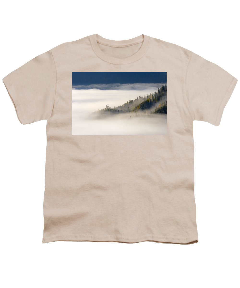 Fog Youth T-Shirt featuring the photograph Autumn Morn by Mike Dawson