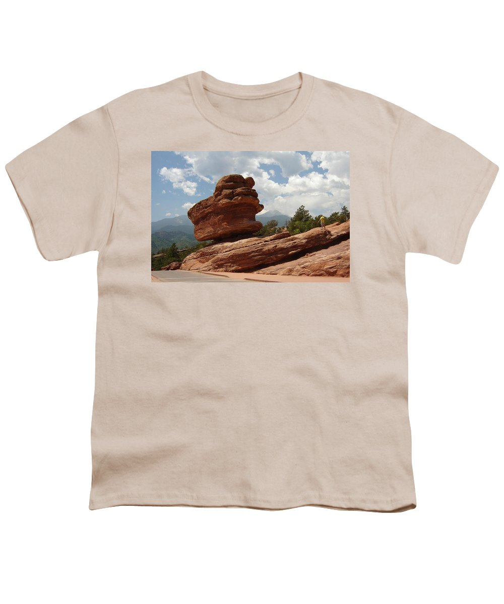 Colorado Youth T-Shirt featuring the photograph Balance Rock by Anita Burgermeister