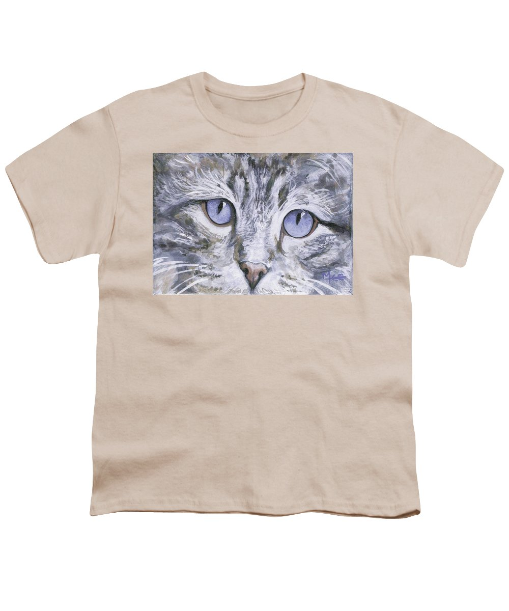 Charity Youth T-Shirt featuring the painting Bisous by Mary-Lee Sanders