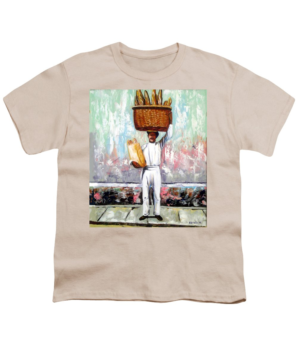 Bread Youth T-Shirt featuring the painting Breadman by Jose Manuel Abraham
