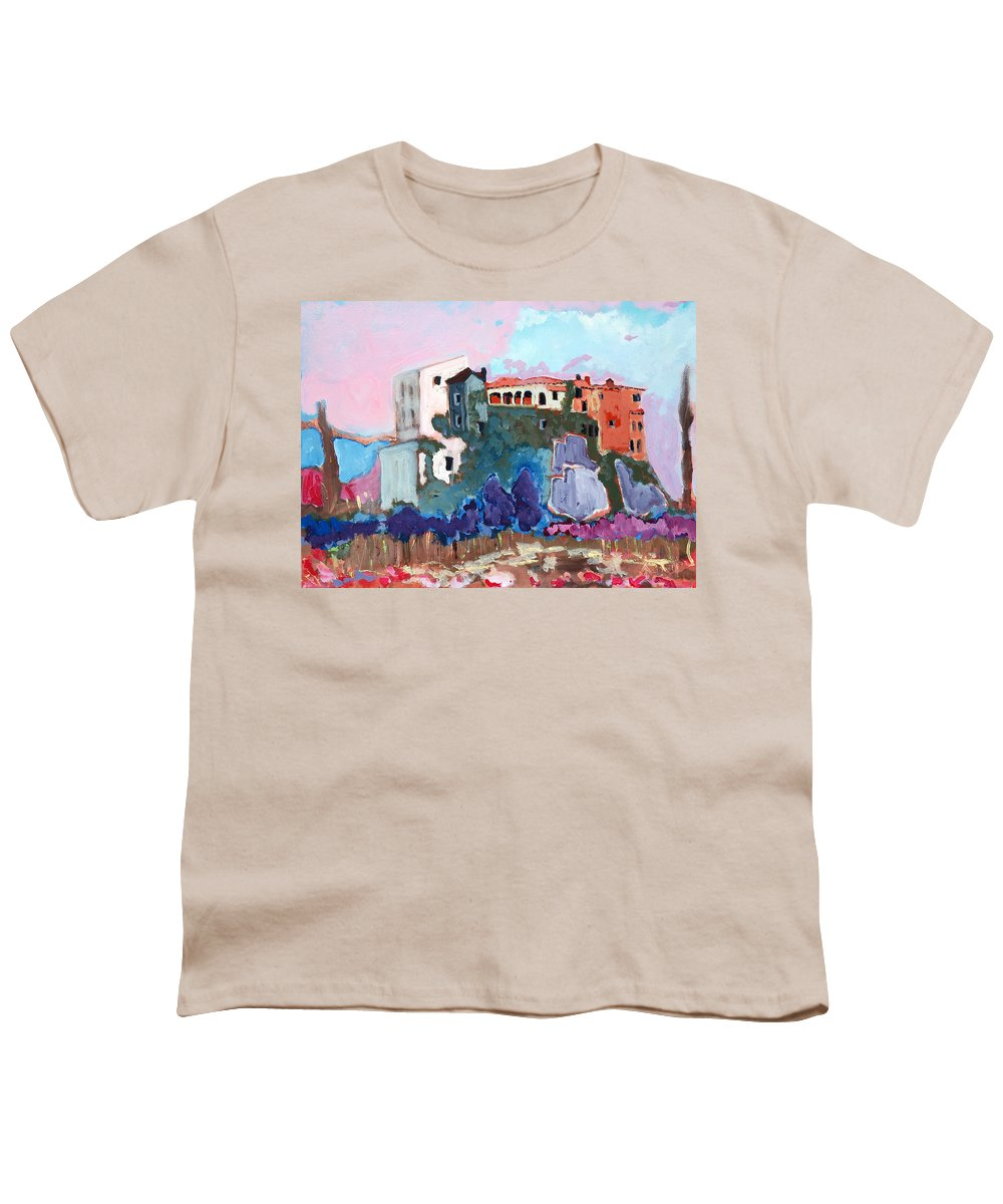 Castle Youth T-Shirt featuring the painting Castello by Kurt Hausmann