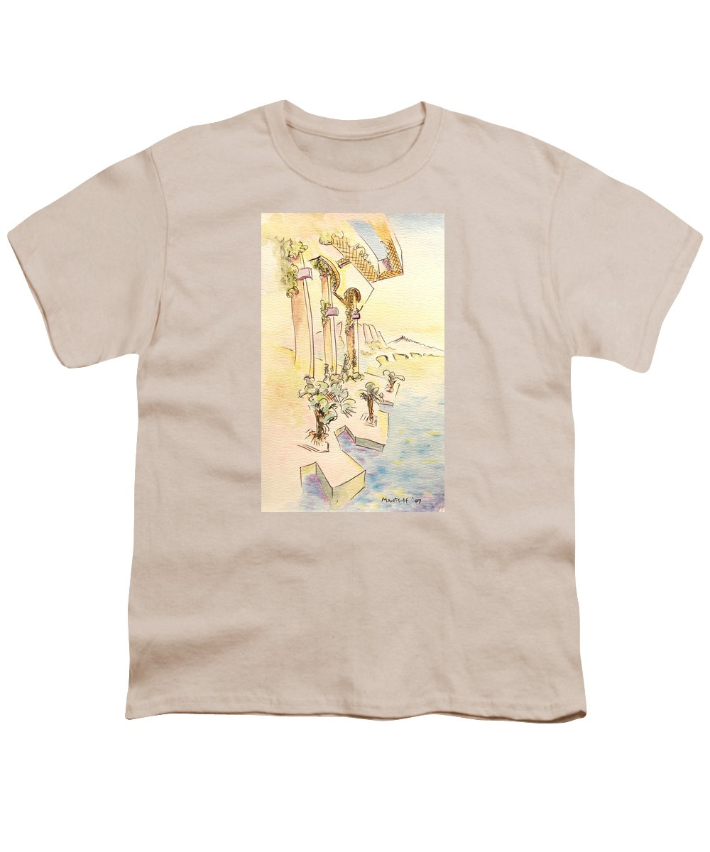 Italian Youth T-Shirt featuring the painting Classic Summer Morning by Dave Martsolf